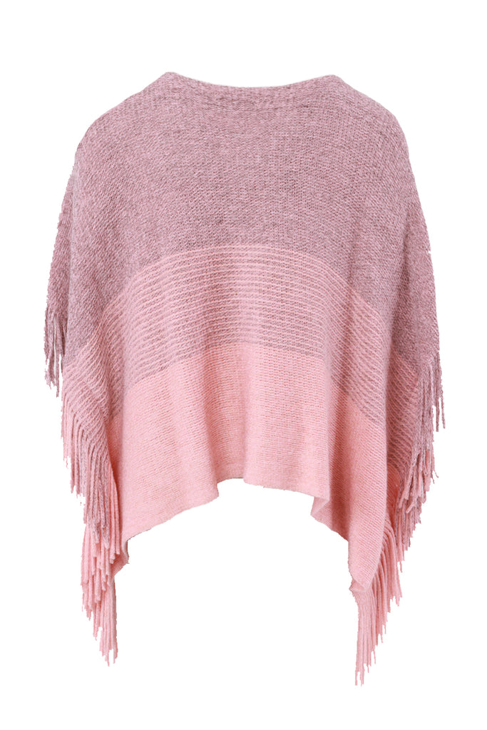 Ombre Cape With Fringe