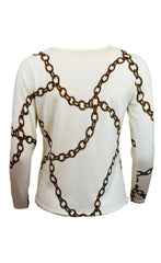 Chain Print Sweater