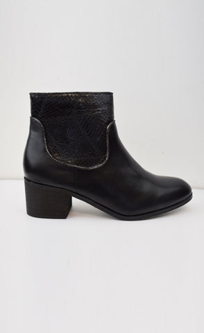 Croc Insert Ankle Boot
