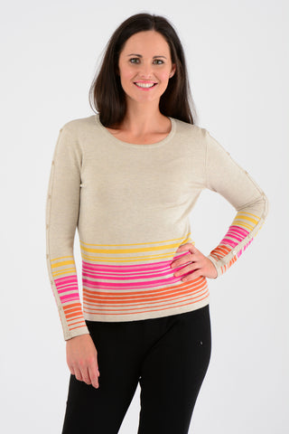 Stripe Hem Sweater