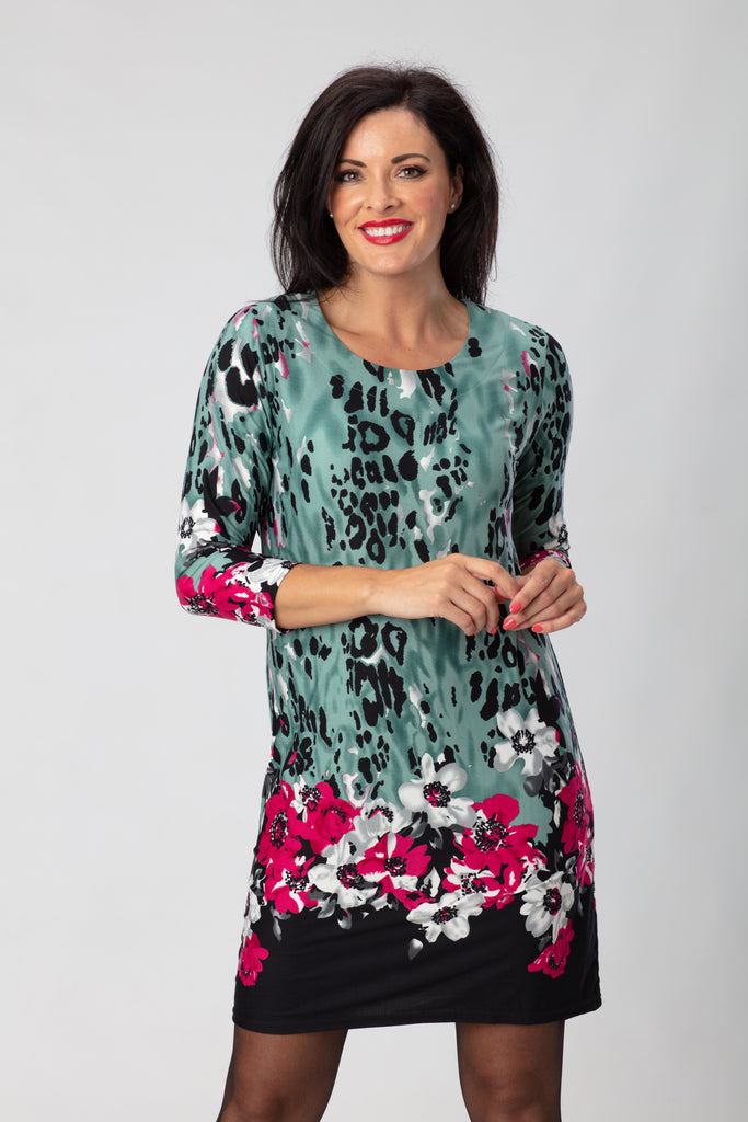 Animal Border Print Dress