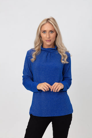 Lurex Turtle Neck