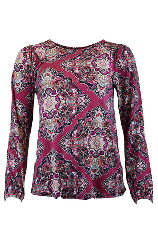 Paisley Printed Jersey Top