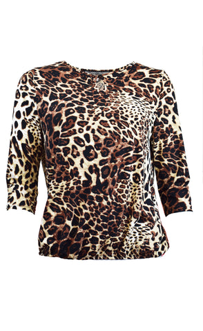 Brushed Animal Print Tee