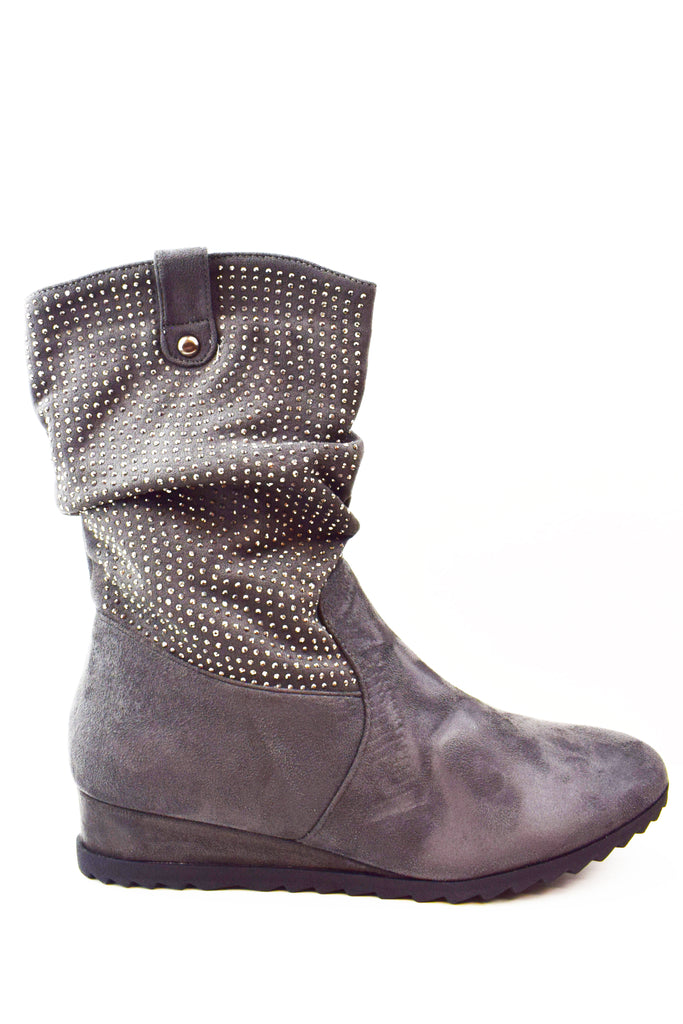 Studded Wedge Boot