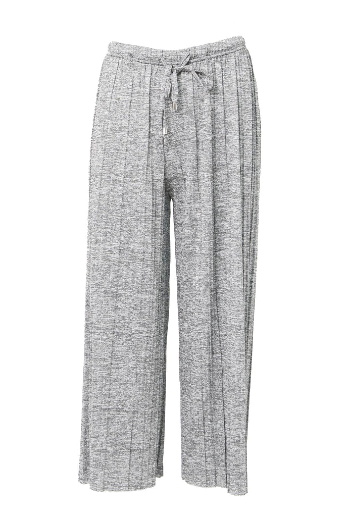 Pleated Crop Leg Trouser