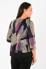 Leaf Print Amethyst Top