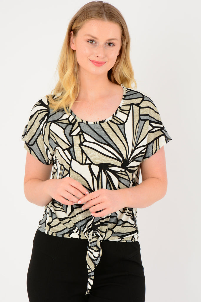 Abstract Printed Tee