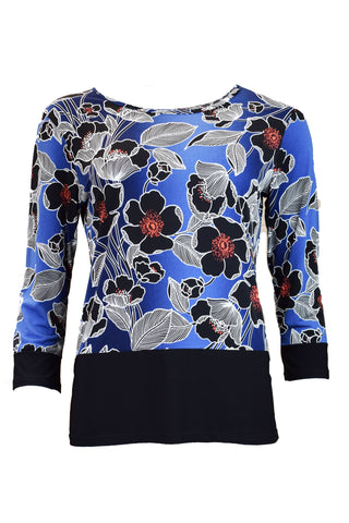 Floral Print Contrast Top