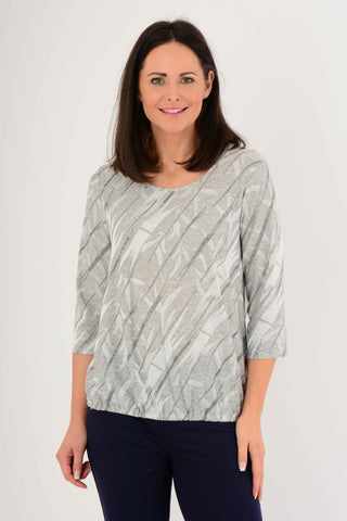 Textured Round Neck Top