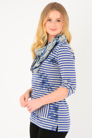 Flower Stripe Tunic