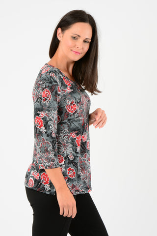 Floral Print 3/4 Tunic