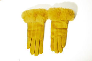 Fur Trim Gloves-Accessories-Paco