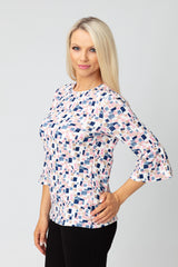 Square Flute Sleeve Top