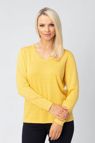 Dotted V Neck Sweater