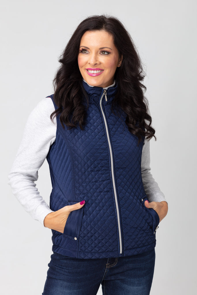 Diamond & Horizontal Quilt Gilet