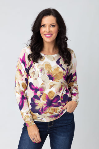 Flower Print Jumper