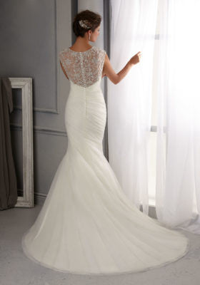 Mori Lee Style 5270 - Size 10 Ivory/Silver