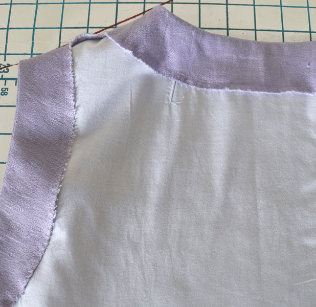 How to attach facings to garments on Baudekin Studio
