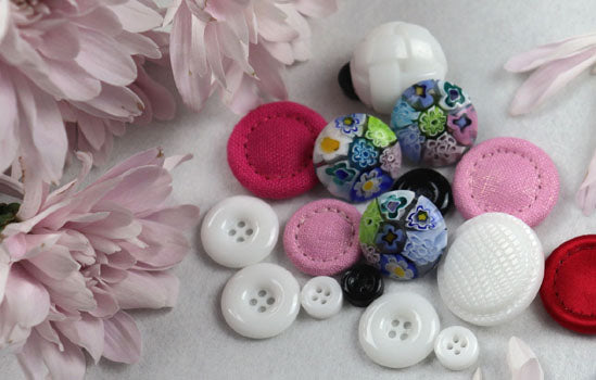 plastic and fabric buttons online