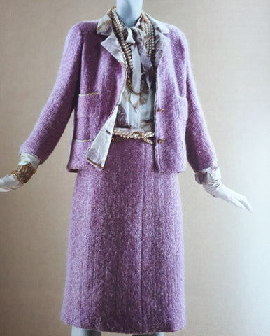 Chanel tweed jacket in lilac colour