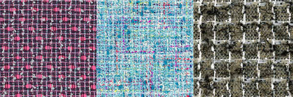 Tweed fabric swatches