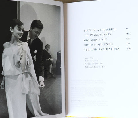 Vogue on Givenchy book table of contents