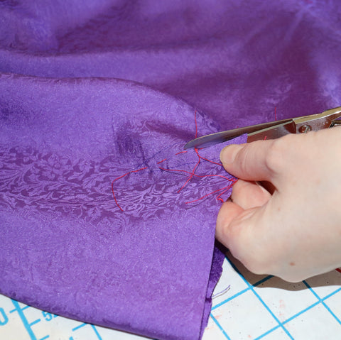 silk fabric in sewing hobby