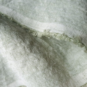 light green linen fabric from Belgium