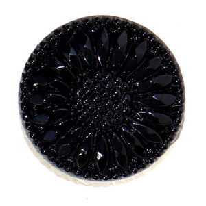 Black flower button