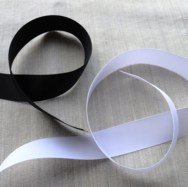 Grosgain ribbon for fashion sewing