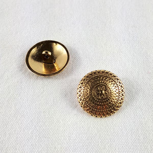 metal buttons, antique gold colour