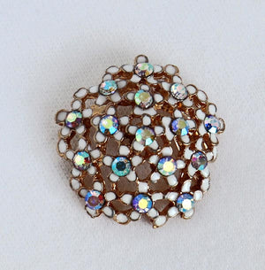 Metal with rhinestones fashion couture button
