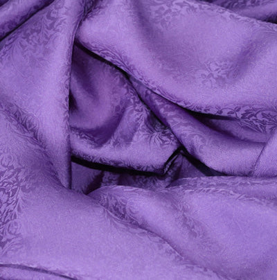 purple silk jacquard fabric for dressmaking, pure 100% silk fabric for sewing