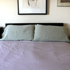 pillowcases made from tumbled linen fabric
