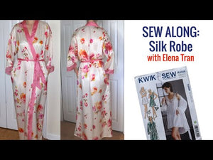 YouTube video about using pink silk fabric