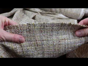 YouTube video demonstrating Chanel tweed fabric