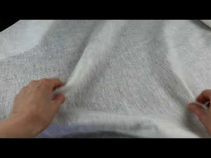 YouTube video demonstrating handkerchief linen fabric