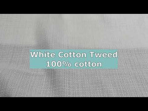 YouTube video about white cotton tweed fabric