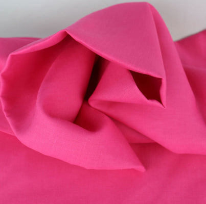 Fuchsia pink linen fabric medium weight