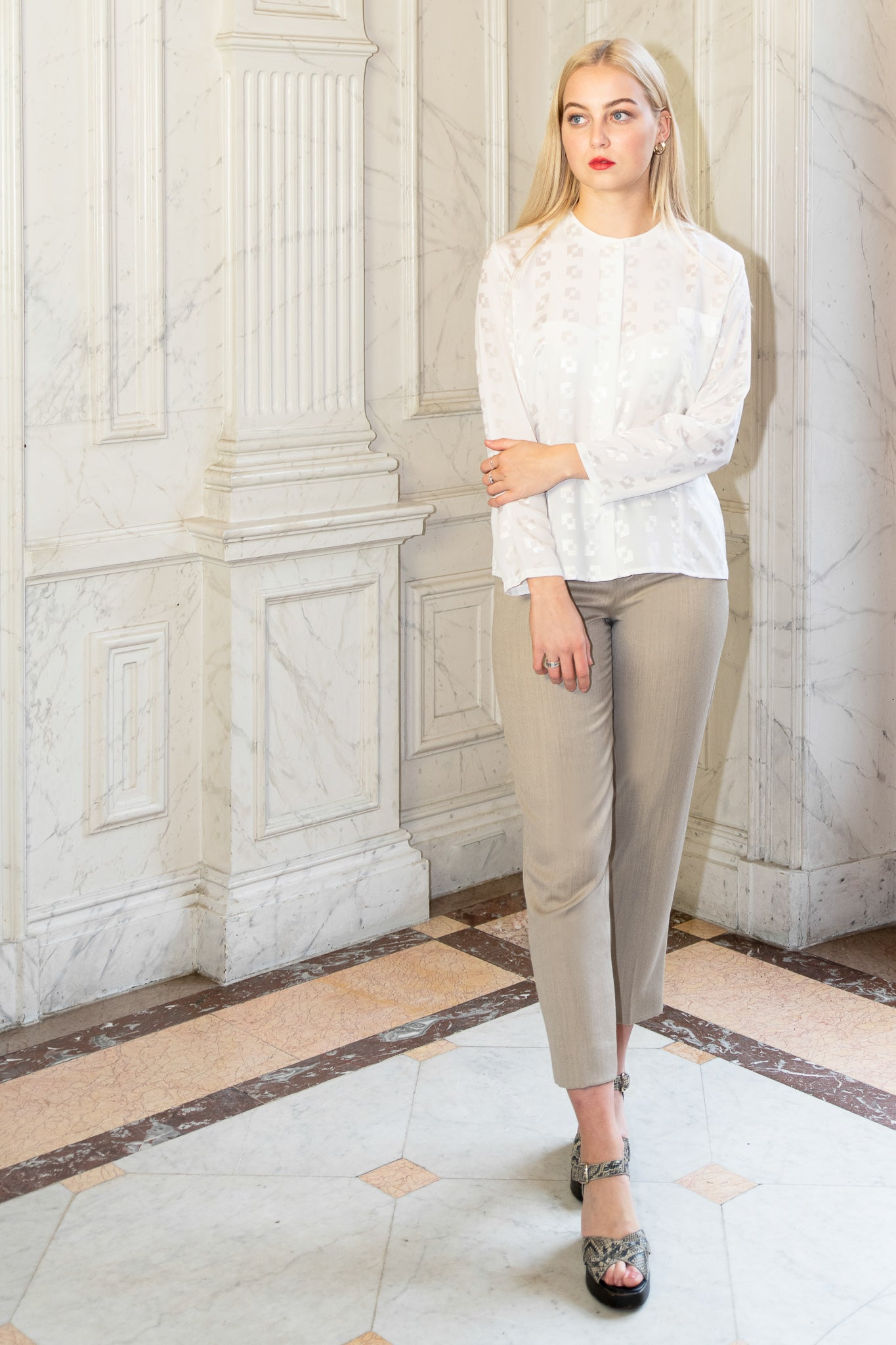 Josy beige trousers