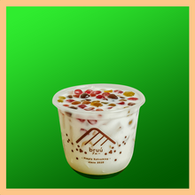 Load image into Gallery viewer, Honeydew Niu Niu Latte with Rainbow bubble