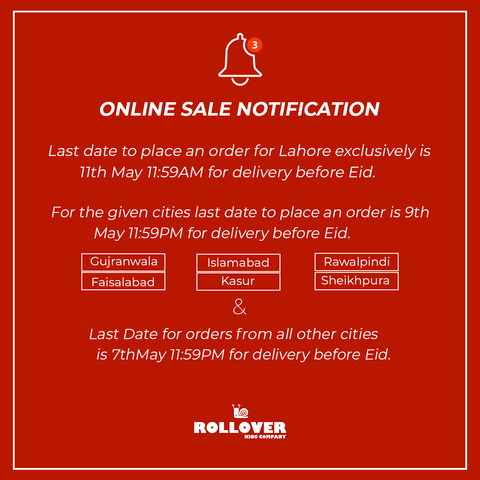 Rollover Delivery Details for Eid Ul Fitr 2021