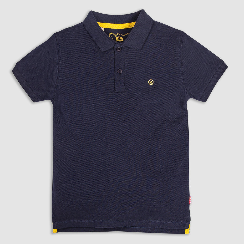 Navy Blue Boys Polo