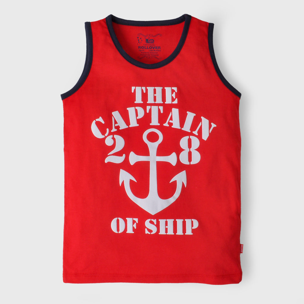 Red Sailor Tank Top