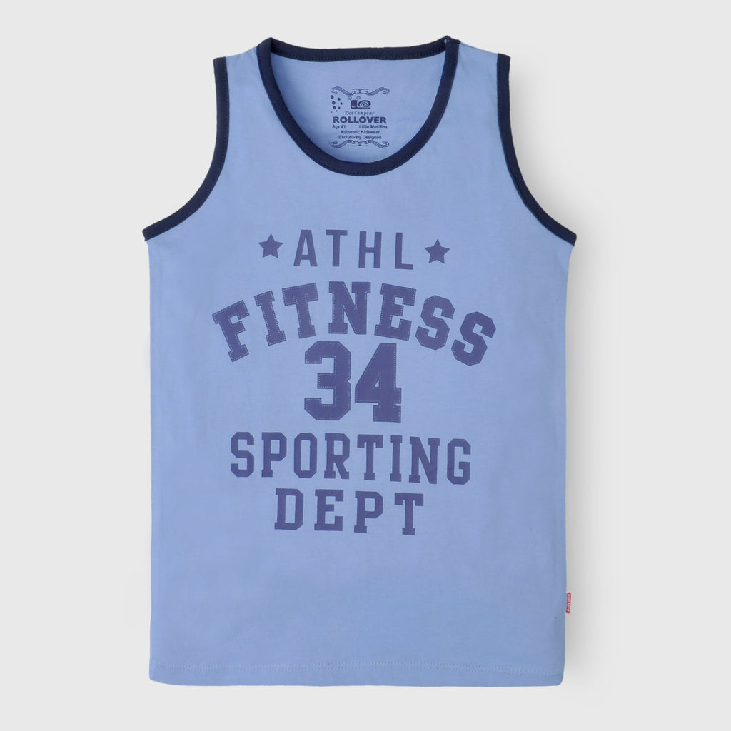 Blue Fitness Tank Top