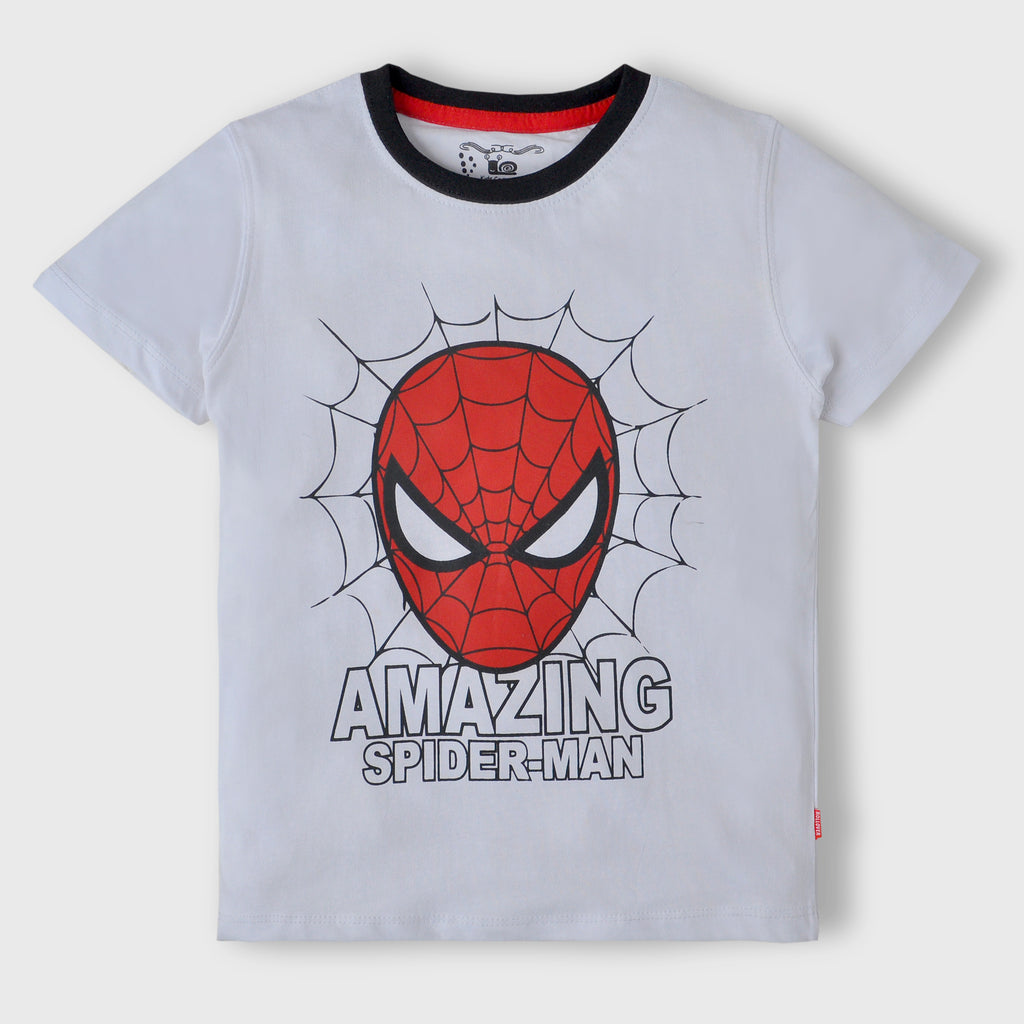 White Spiderman T-Shirt