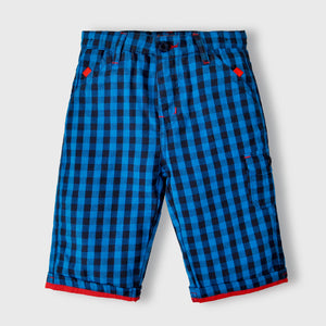 Blue Checkered Shorts