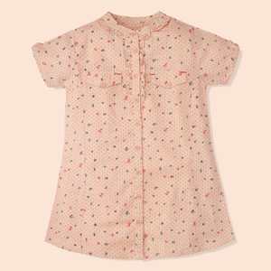 Peach Scripted Top