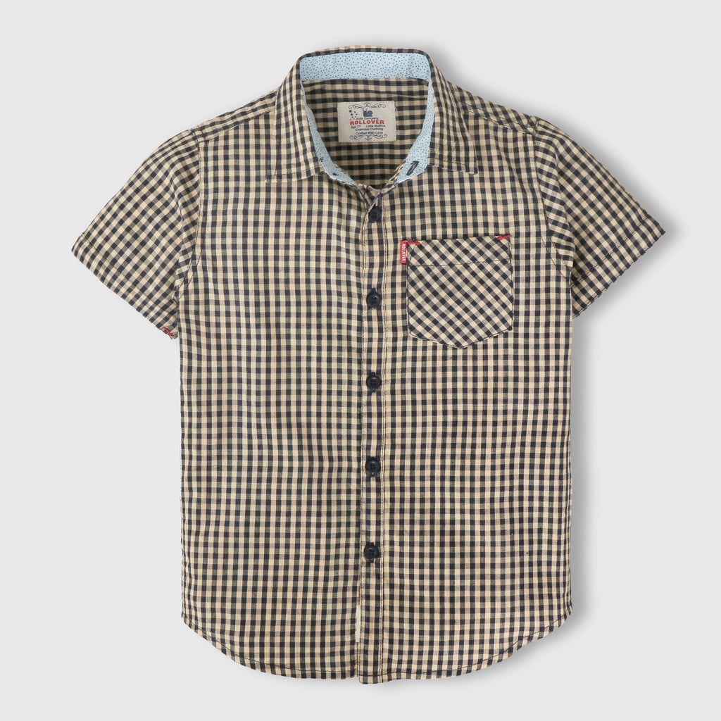 Beige Gingham Shirt